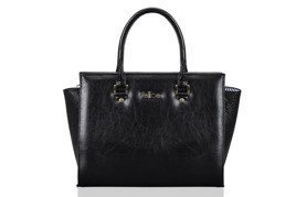 Classic leather handbag Felice Gold Gatto