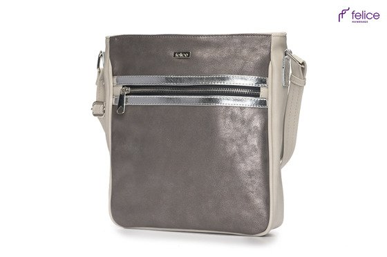 Grey messenger bag Felice Aurora A03