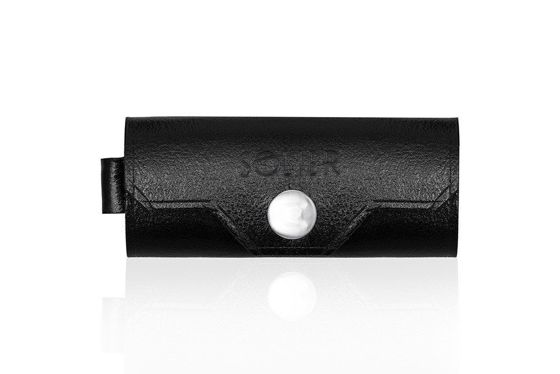 Leather men's key holder SOLIER SA11 BLACK