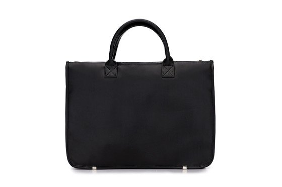 Men's modern briefcase Solier GALSTON black
